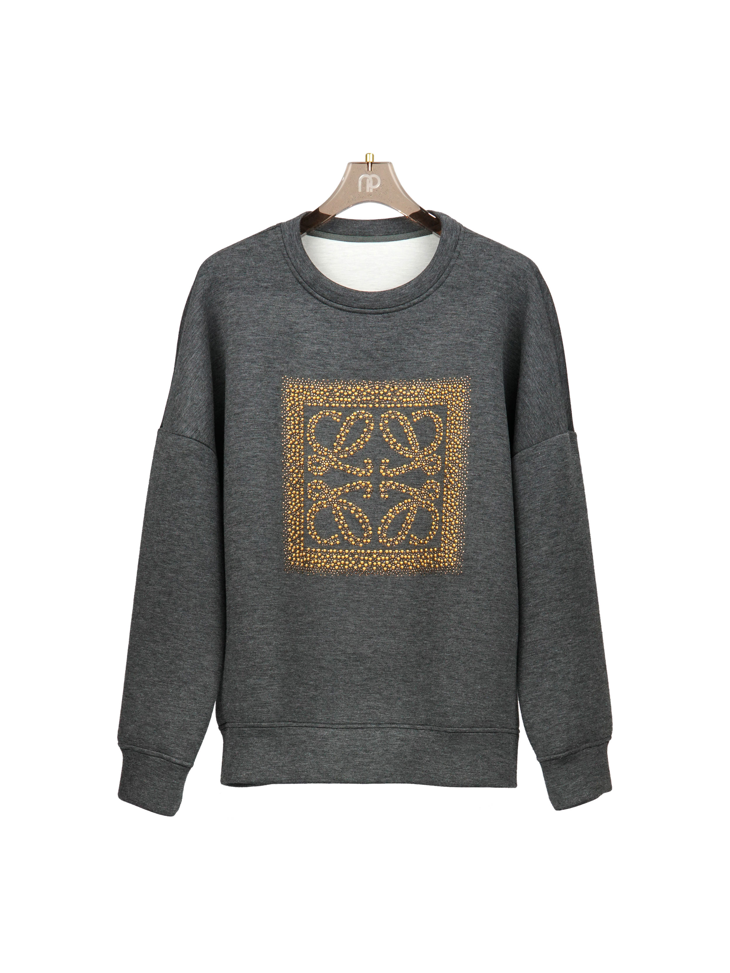 Sweatshirt logo đính đá