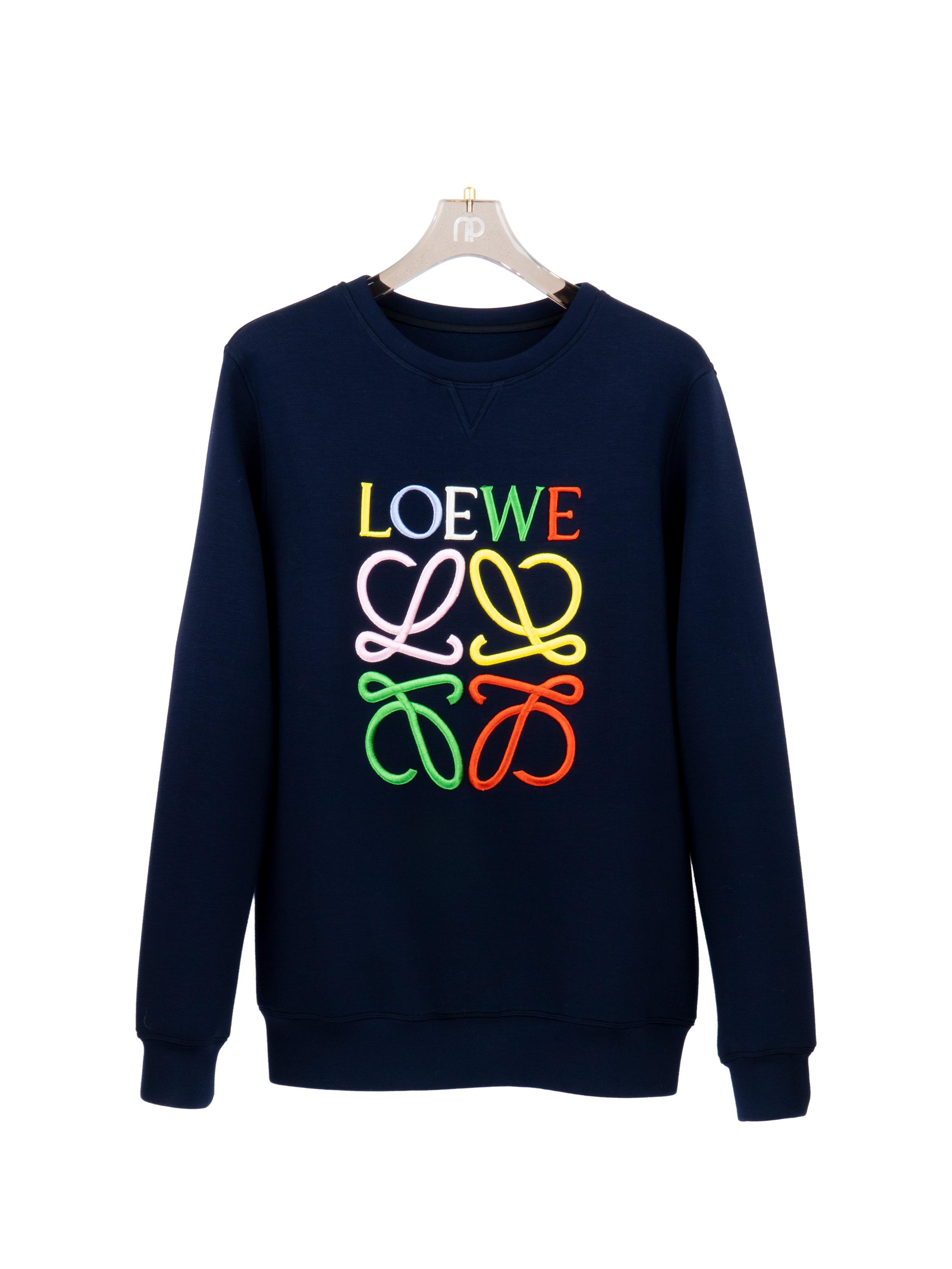 Sweatshirt logo thêu màu