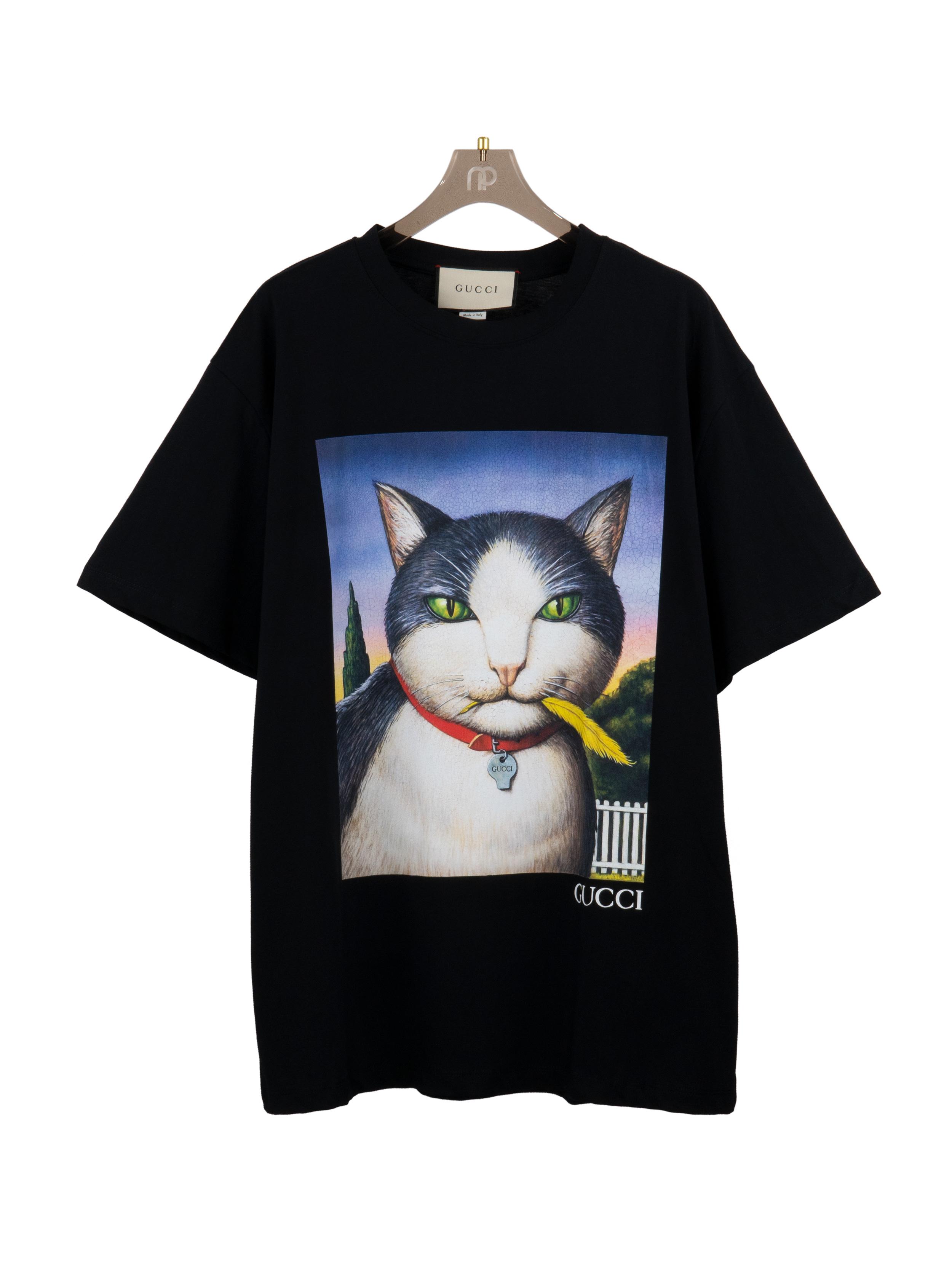 Áo thun mèo - Đen