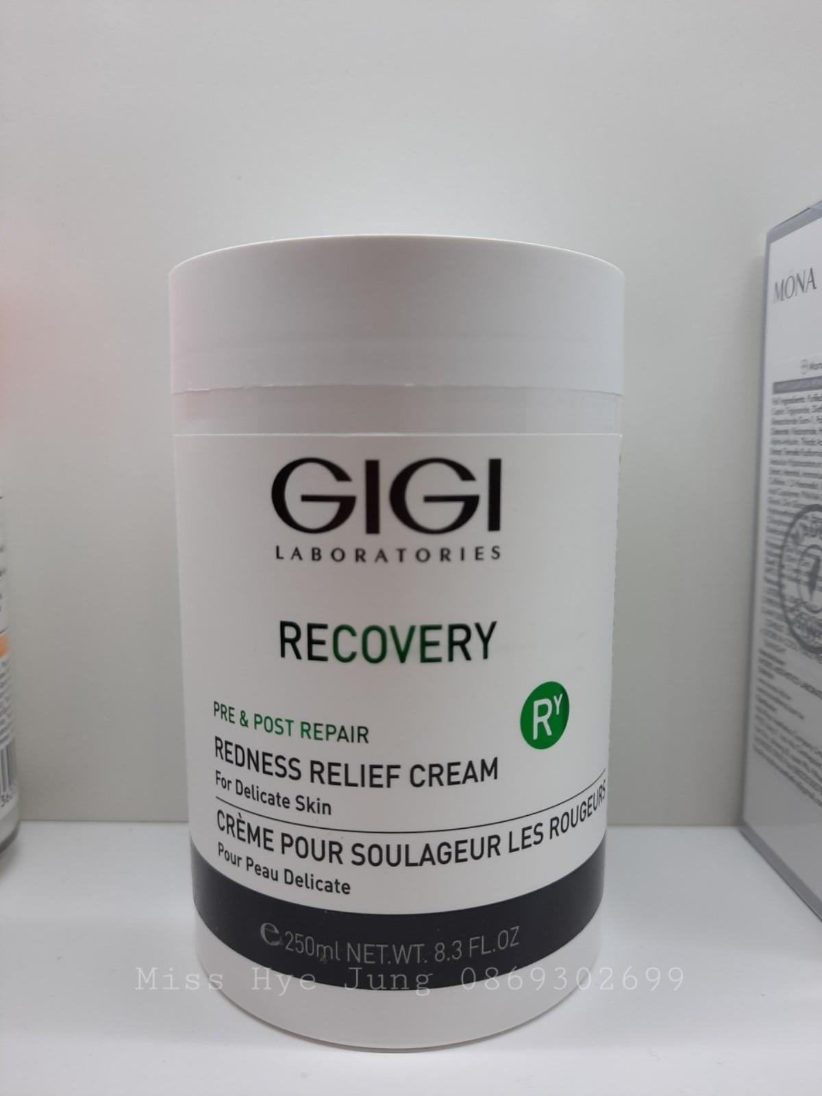 Kem dưỡng làm dịu, phục hồi, tái tạo da GiGi Recovery Redness Relife Cream 250ml