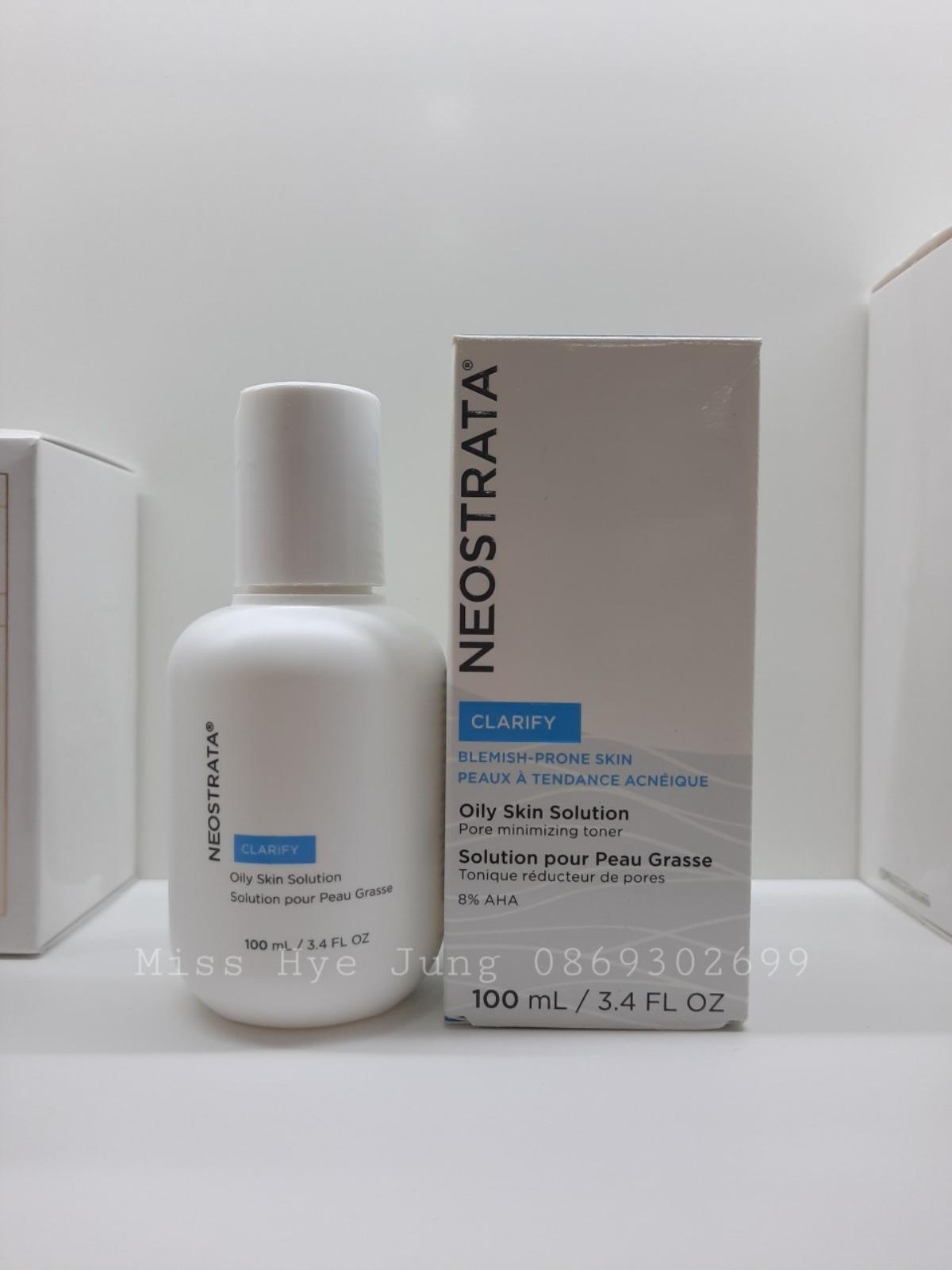 Kem giảm mụn và kiểm soát nhờn NeoStrata AHA 8% Oily Skin Solution 100ml