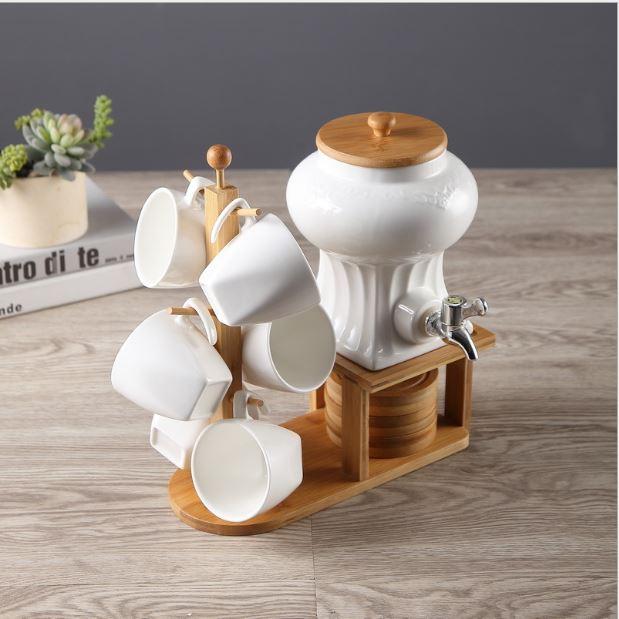 Bộ ấm trà có kệ gỗ