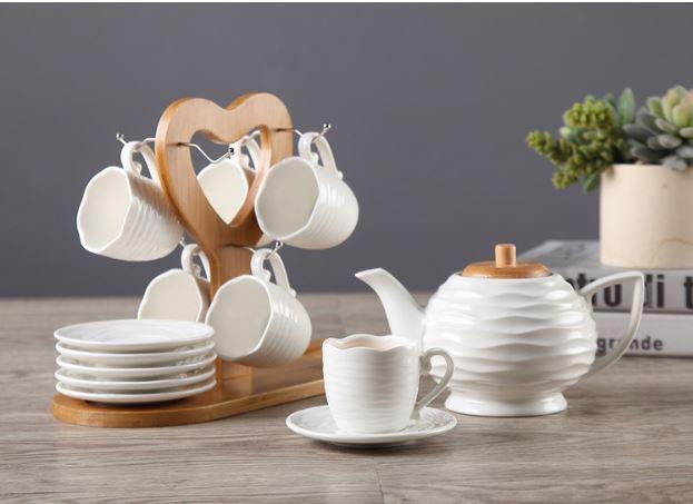 Bộ bình trà giá gỗ