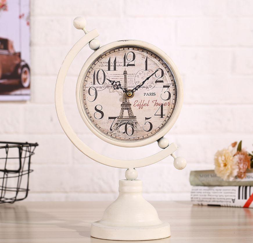 Đồng hồ để bàn hình địa cầu