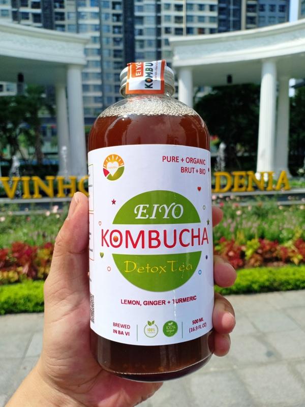 Trà EIYO KOMBUCHA DETOX TEA - Thanh lọc cơ thể, giảm cân, được lên men thủ công Truyền thống tại Núi Ba Vì.