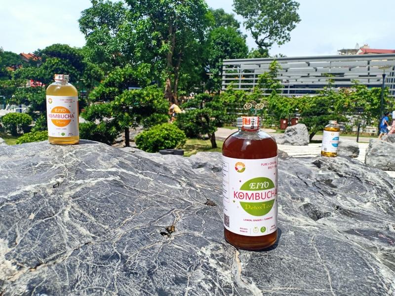 Trà EIYO KOMBUCHA  RAW - Nguyên vị tự nhiên với nguyên liêu Organic, được lên men thủ công Truyền thống tại Núi Ba Vì.
