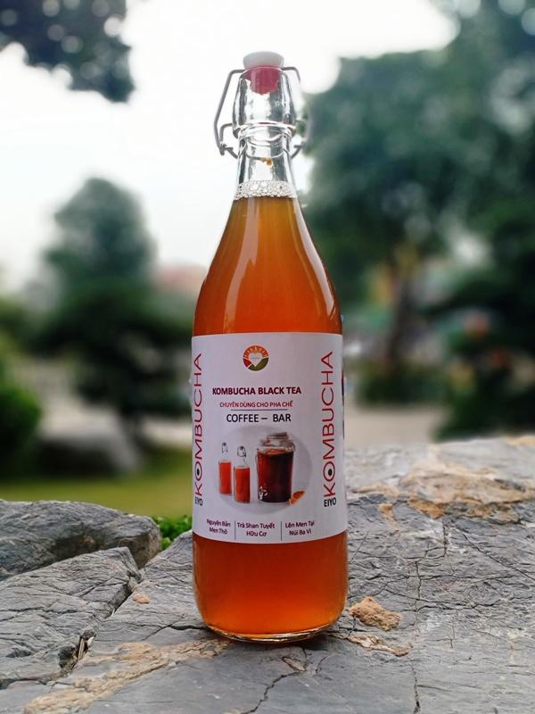 Trà KOMBUCHA BLACK TEA - Nguyên Chất Thô (chuyên dùng cho pha chế tại nhà & quan cà phê, quán bar, trà chanh, trà sữa)