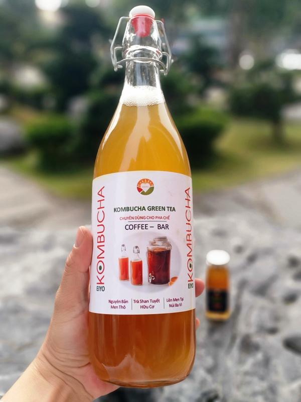Trà KOMBUCHA GREEN TEA - Nguyên Chất Thô (chuyên dùng cho pha chế tại Nhà & Quán cà phê, quán bar, trà chanh, trà sữa)