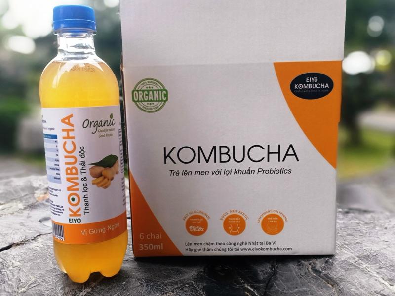 KOMBUCHA DETOX TEA  (  THANH LỌC & THẢI ĐỘC) Chai Nhựa 350ML