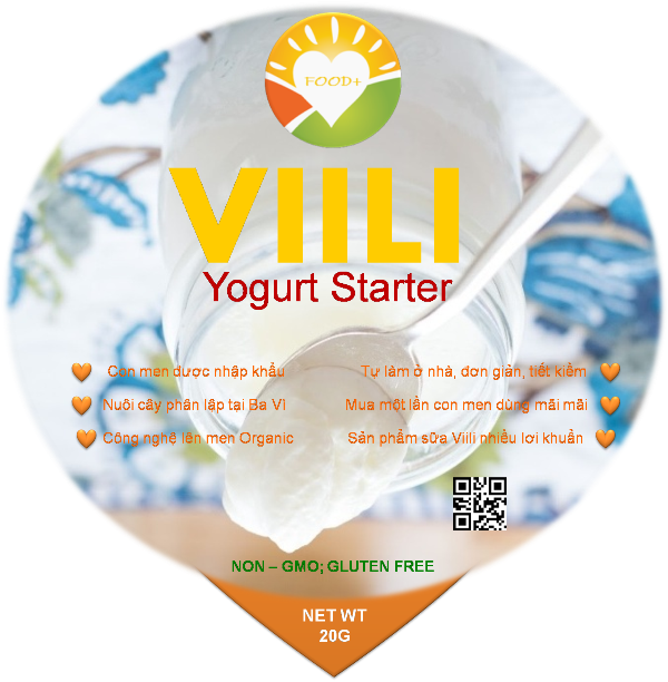 VIILI YOGURT STARTER - ORGANIC ( Men Tươi )