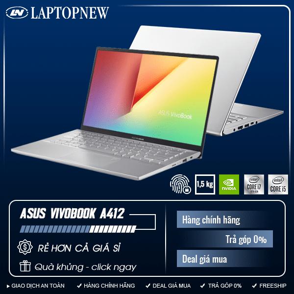 Asus Vivobook A412FA - EK738T (Silver) | i5-10210U | 8GB DDR4 | SSD 512GB PCIe | VGA Onboard | 14.1 FHD | Win10. [DEAL GIÁ MUA]