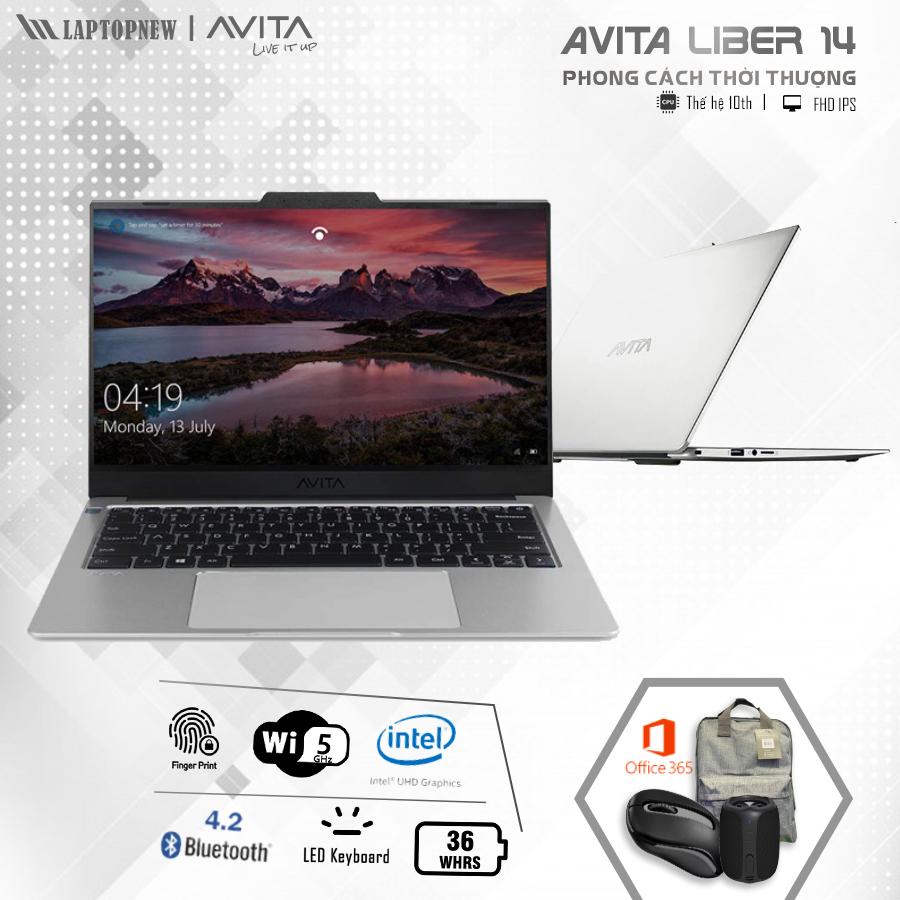 AVITA LIBER 14 NS14A8VNF561-SGB (Grey)   i5-10210U   8GB DDR4   SSD 512GB PCIe   VGA Onboard   14.1 FHD IPS   Win10.