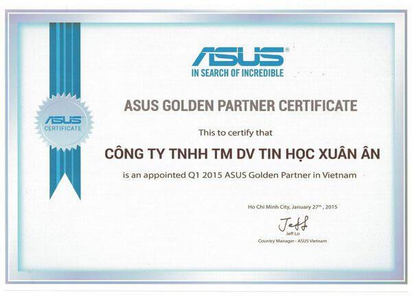 Chứng nhận đại lý uỷ quyền Asus Việt Nam