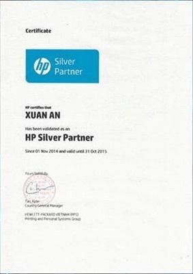 Chứng nhận đại lý uỷ quyền HP Việt Nam