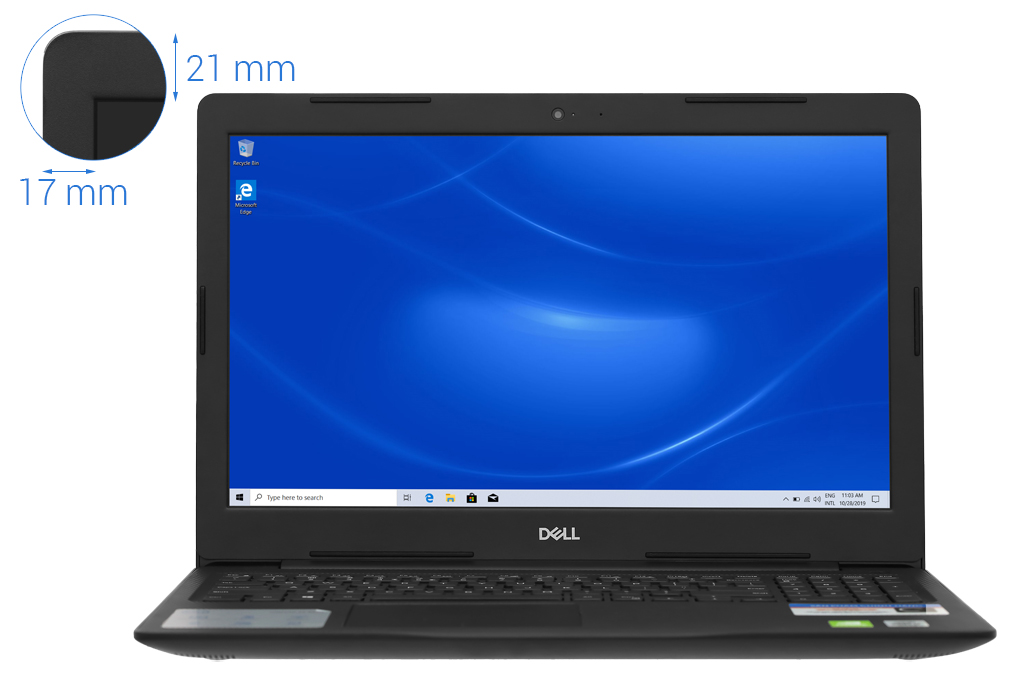 Dell Inspiron 3593-70197459 (Black) | i7-1065G7 | 8GB DDR4 | SSD 512GB | DVDRW | VGA MX230 2GB | 15.6 FHD | Win10. [DEAL GIÁ MUA]