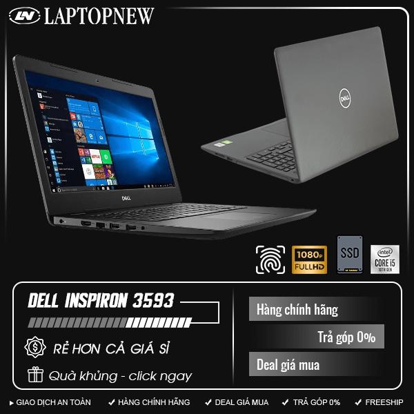 Dell Inspiron 3593-70205743 (Black) | i5-1035G1 | 4GB DDR4 | SSD 256GB | VGA MX230 2GB | 15.6 FHD | Win10. [DEAL GIÁ MUA]