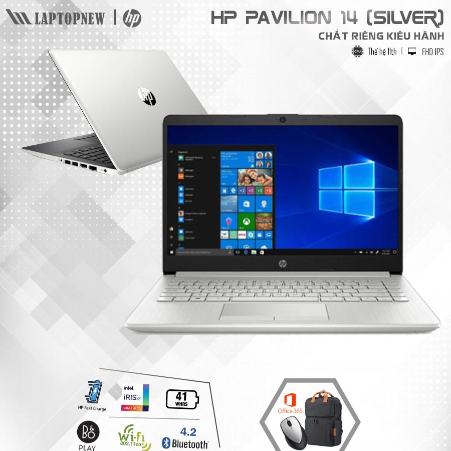 LAPTOP HP Pavilion 14 dv0041TU (Silver)   i3-1115G4 Gen 11th   4GB DDR4   SSD 256GB PCIe   VGA Onboard   14.1 FHD IPS   Win10 + Office. -- Hàng Chính Hãng, Deal Giá --