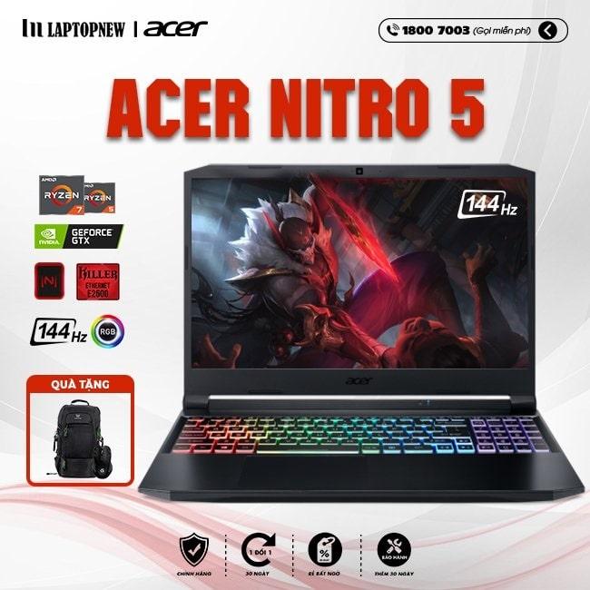 Laptop Acer Nitro 5 AN515-44-R9JM khuyến mãi quà tặng