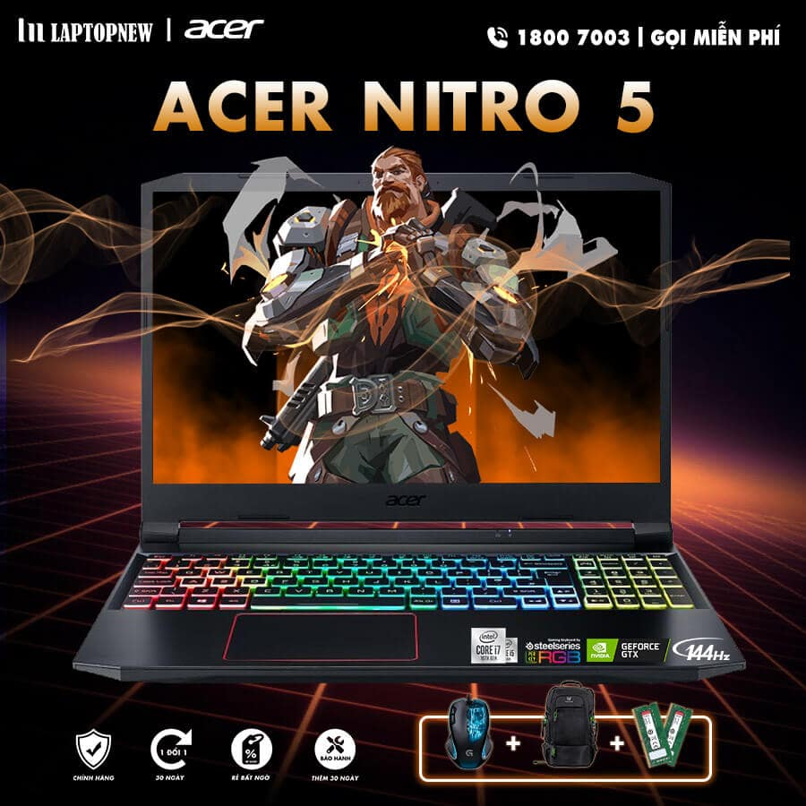 Laptop Acer Nitro 5 AN515-55-58A7 khuyến mãi quà tặng