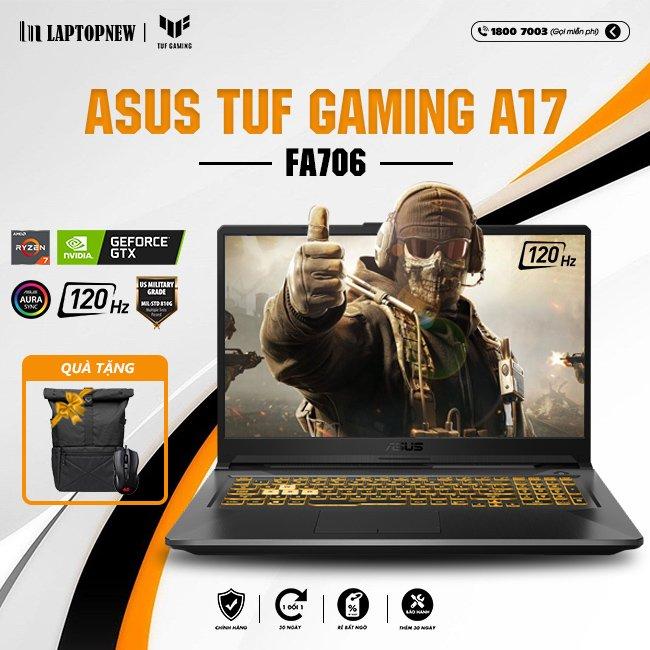 Laptop Asus Tuf A17 FA706IH H7104T khuyến mãi quà tặng