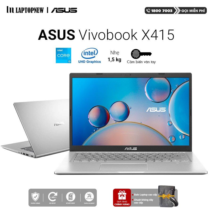 Laptop Asus Vivobook X415EA EB265T (Silver) | i5-1135G7 Gen 11th | 4GB DDR4 | SSD 512GB PCIe | VGA Onboard | 14.1 FHD | Win10. -- Hàng Chính Hãng, Deal Giá --