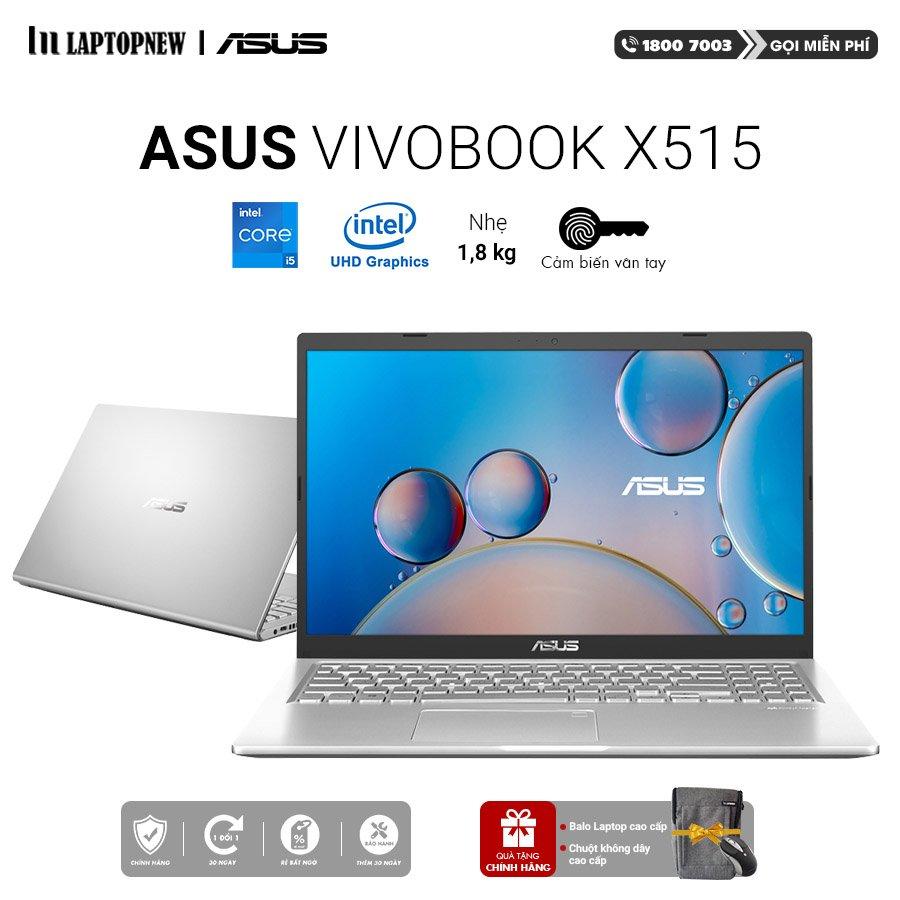 Laptop Asus Vivobook X15 X515EA EJ058T (Silver) | i5-1135G7 Gen 11th | 8GB DDR4 | SSD 512GB PCIe | VGA Onboard | 15.6 FHD | Win10.