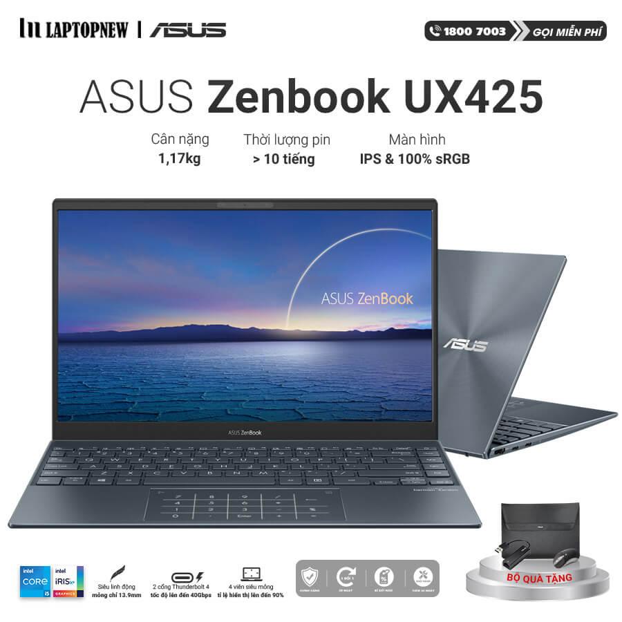 Laptop Asus Zenbook UX425EA KI429T khuyến mãi quà tặng