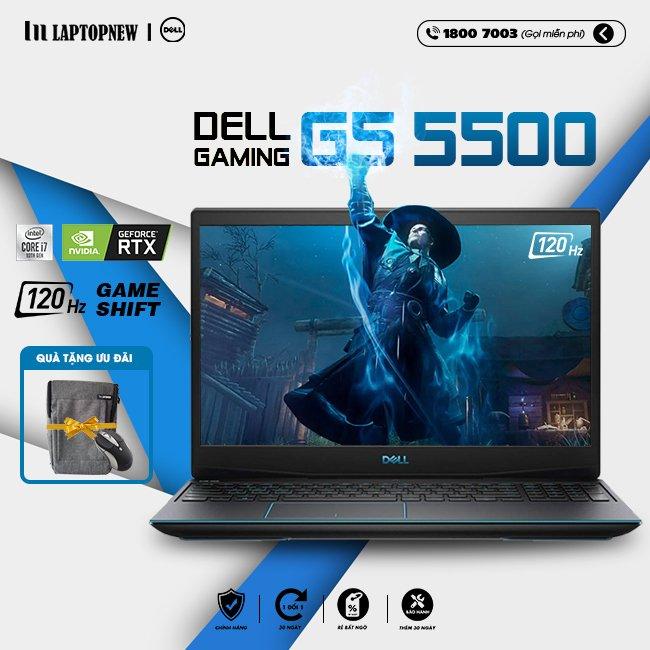 Laptop Dell Gaming G5 15 5500 G5500B khuyến mãi quà tặng