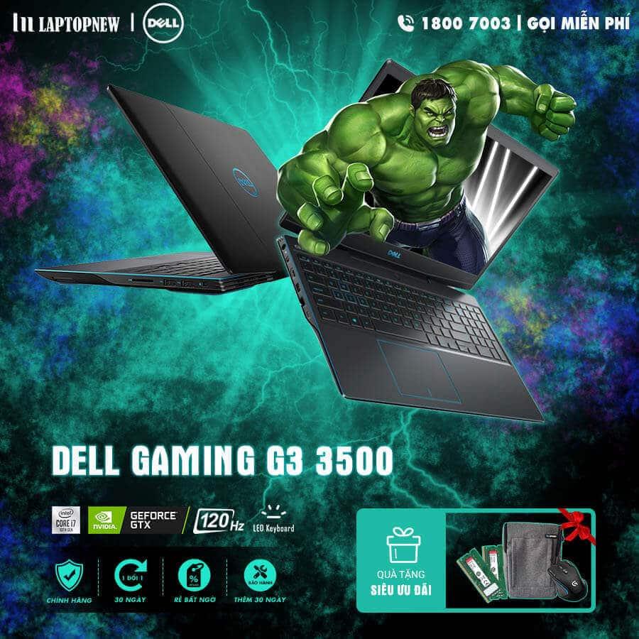 Laptopnew - Dell Gaming G3 3500 khuyến mãi quà tặng
