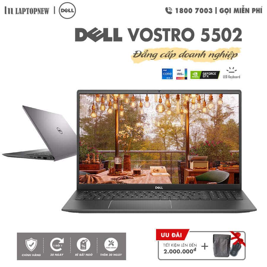 Laptopnew - DELL Vostro 5502 - NT0X01 (Gray) khuyến mãi quà tặng