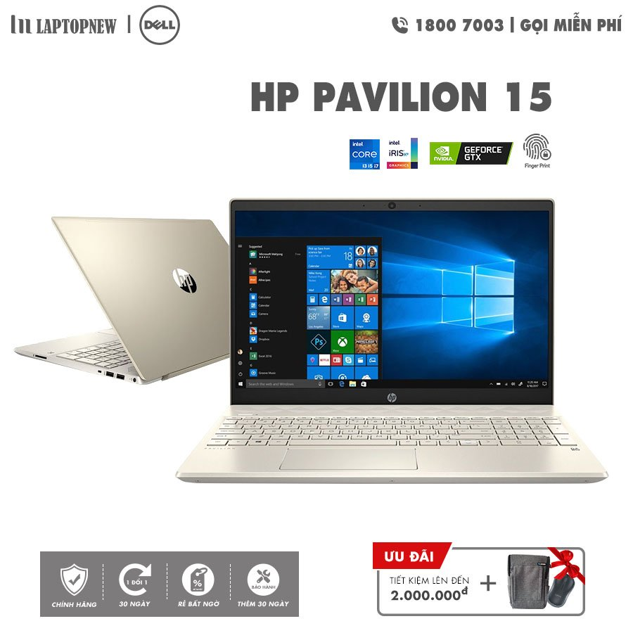 Laptopnew - HP Pavilion 15 - EG0072TU (Gold) khuyến mãi quà tặng