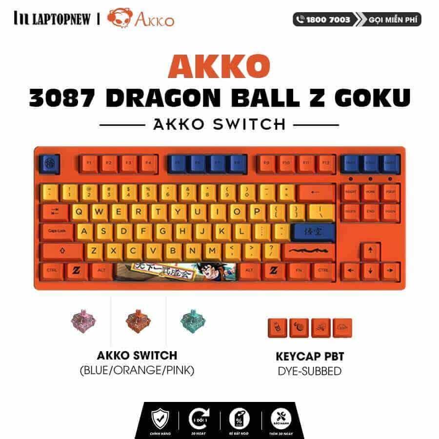 Laptopnew - Keyboard Mechancial AKKO 3087 Dragon Ball Z - thumnail