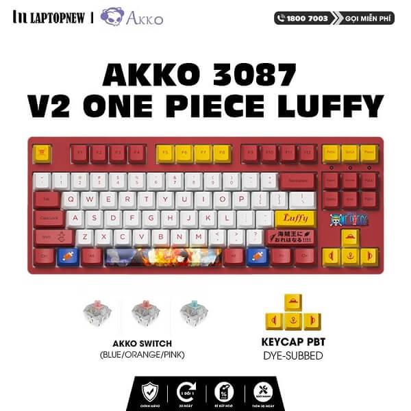 Laptopnew - Keyboard Mechancial AKKO 3087 v2 One Piece Luffy - thumnail