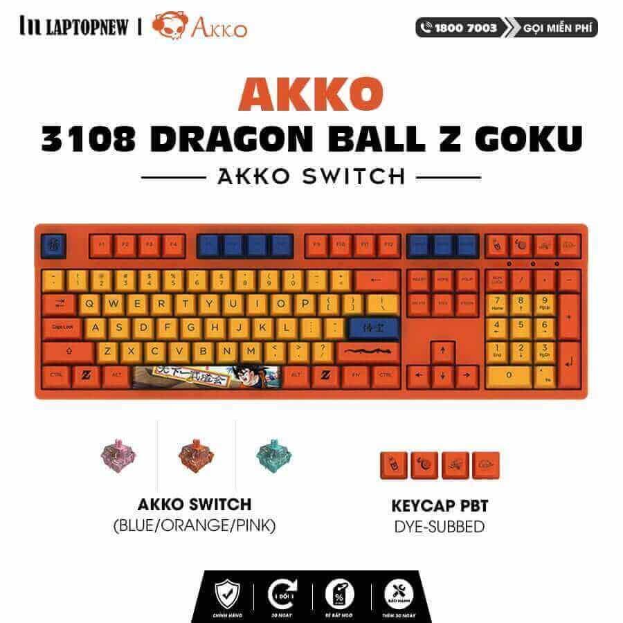 Laptopnew - Keyboard Mechancial AKKO 3108 Dragon Ball Z - thumnail