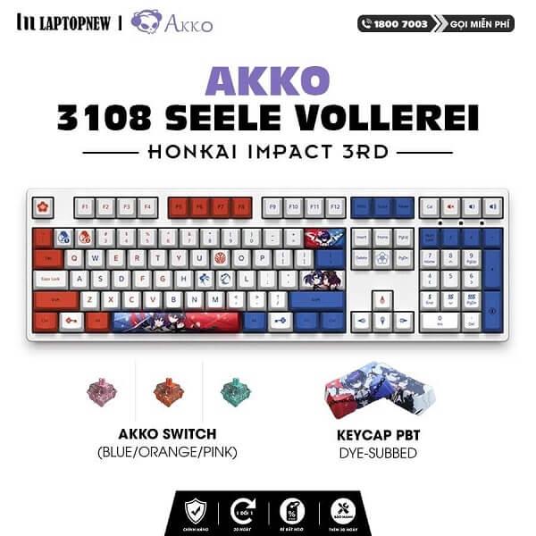 Laptopnew - Keyboard Mechancial AKKO 3108 Honkai Impact 3rd - thumnail