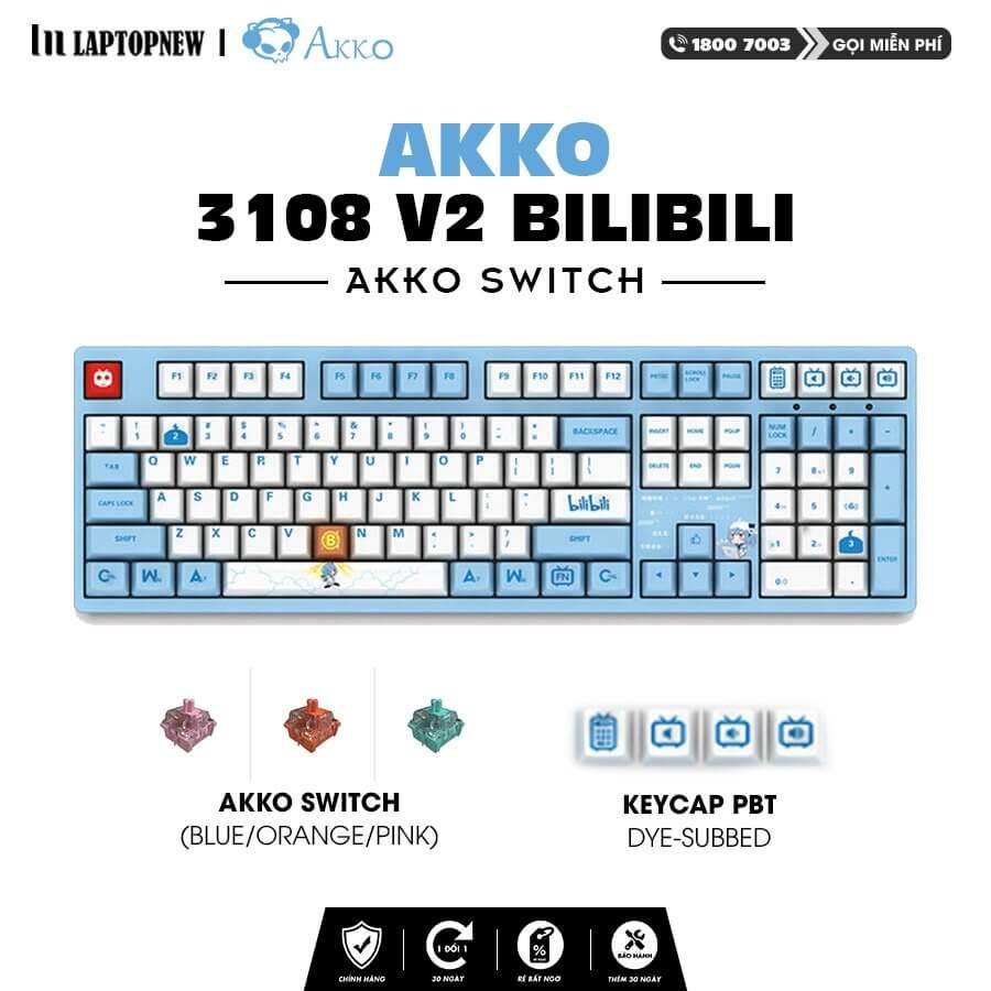 Laptopnew - Keyboard Mechancial AKKO 3108 v2 Bilibili - thumnail