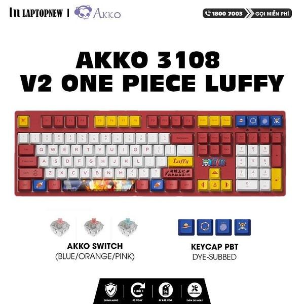 Laptopnew - Keyboard Mechancial AKKO 3108 v2 One Piece Luffy - thumnail