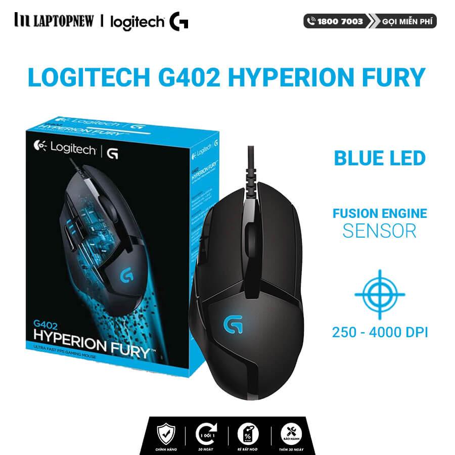 Logitech - Mouse Gaming Logitech G402 Hyperion Fury Ultra Fast FPS (Black). Hàng Chính hãng
