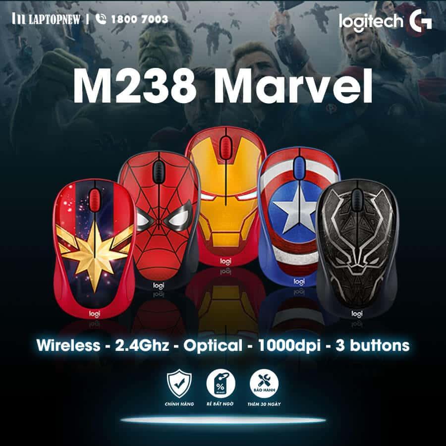 Chuột không dây Logitech M238 Marvel