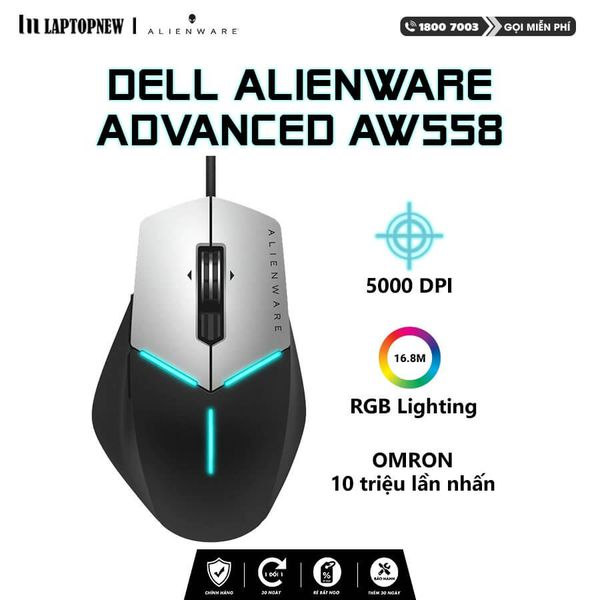 Alienware - Mouse Gaming Alienware Advanced AW558.
