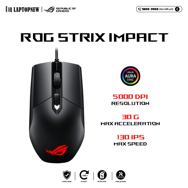 Mouse Asus ROG Strix Impact 1