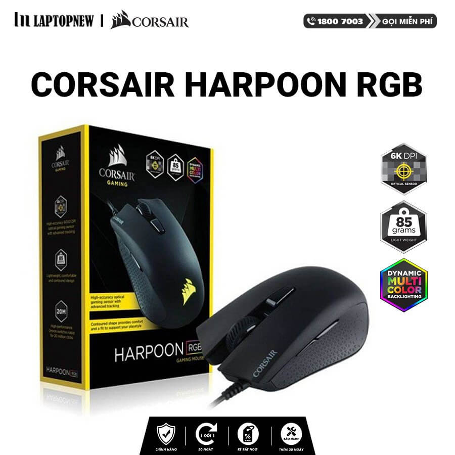 Corsair - Mouse Gaming Corsair Harpoon Pro RGB.