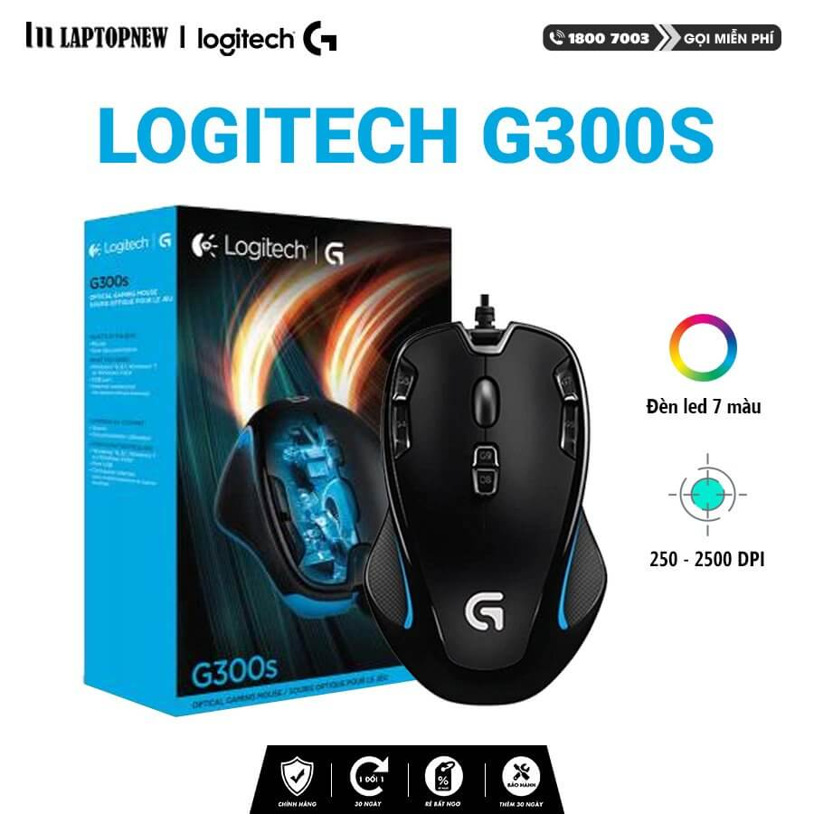 LOGITECH - Mouse Gaming Logitech G300S.
