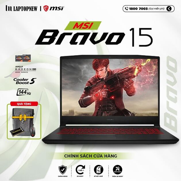 Laptop MSI Bravo 15 B5DD 060VN khuyến mãi quà tặng