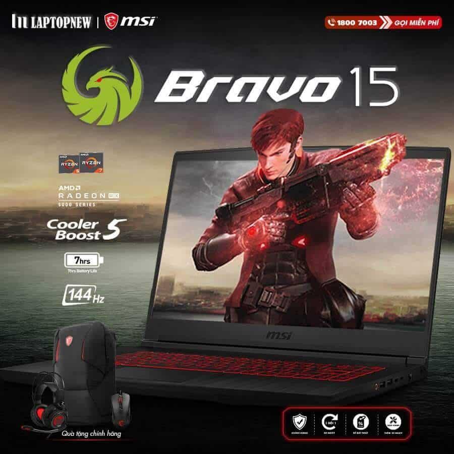 Laptopnew - MSI Bravo 15 A4DCR - 070VN khuyến mãi quà tặng