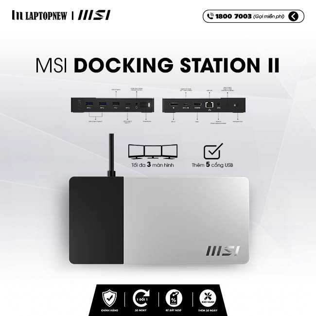 Thiết bị mở rộng cổng kết nối MSI Docking Station II