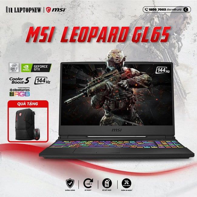 Laptop MSI Leopard GL65 10SCXK 217VN khuyến mãi quà tặng