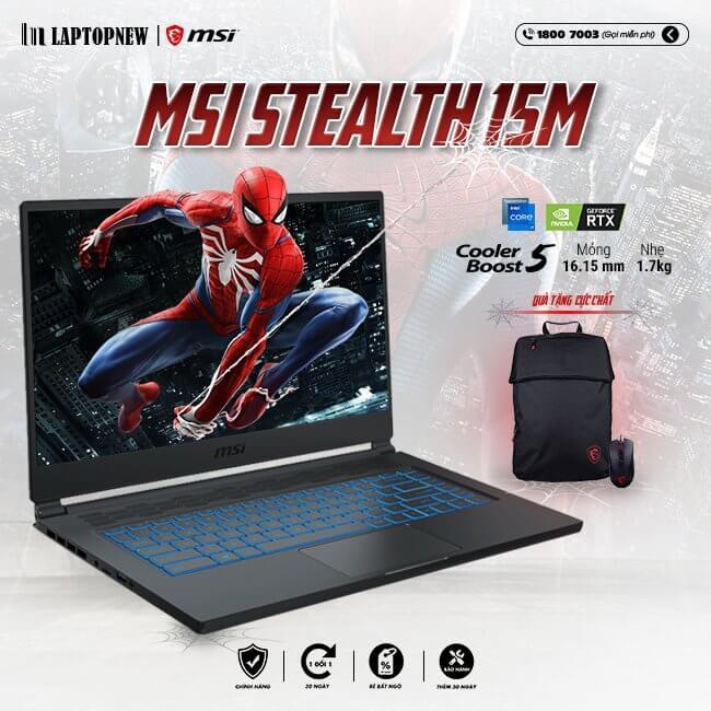 Laptop MSI Stealth 15M A11UEK 232VN khuyến mãi quà tặng