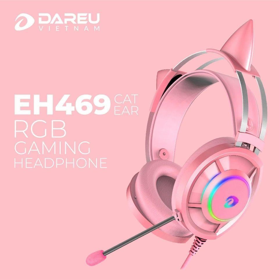 DAREU - Tai nghe Gaming OverEar LED RGB - EH469 Queen