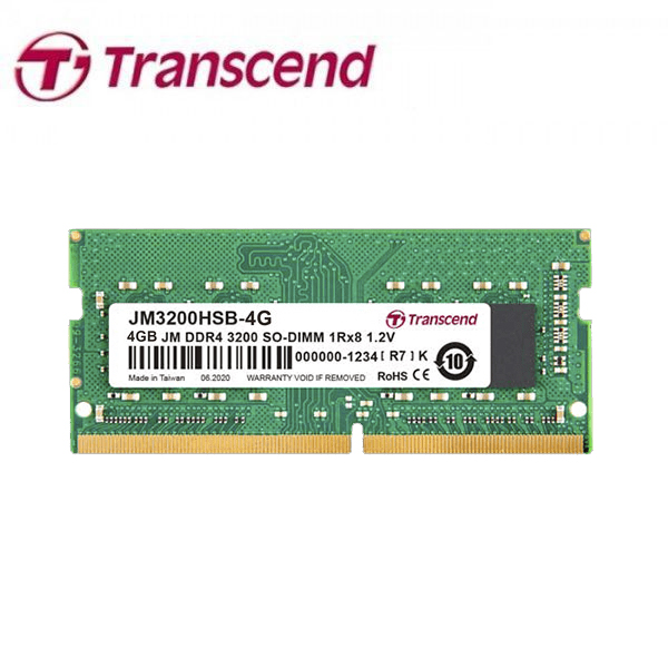 Transcend - RAM 4GB DDR4 3200MHz For Laptop